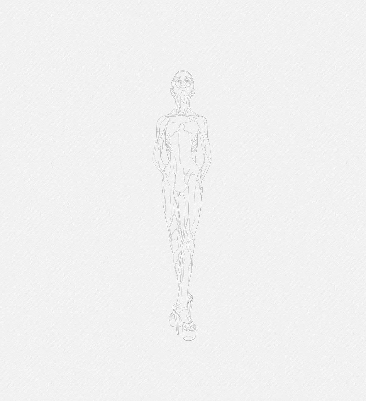 2016 la petite danseuse drawbot 001 full tty art - 2016 - La petite danseuse - Drawbot