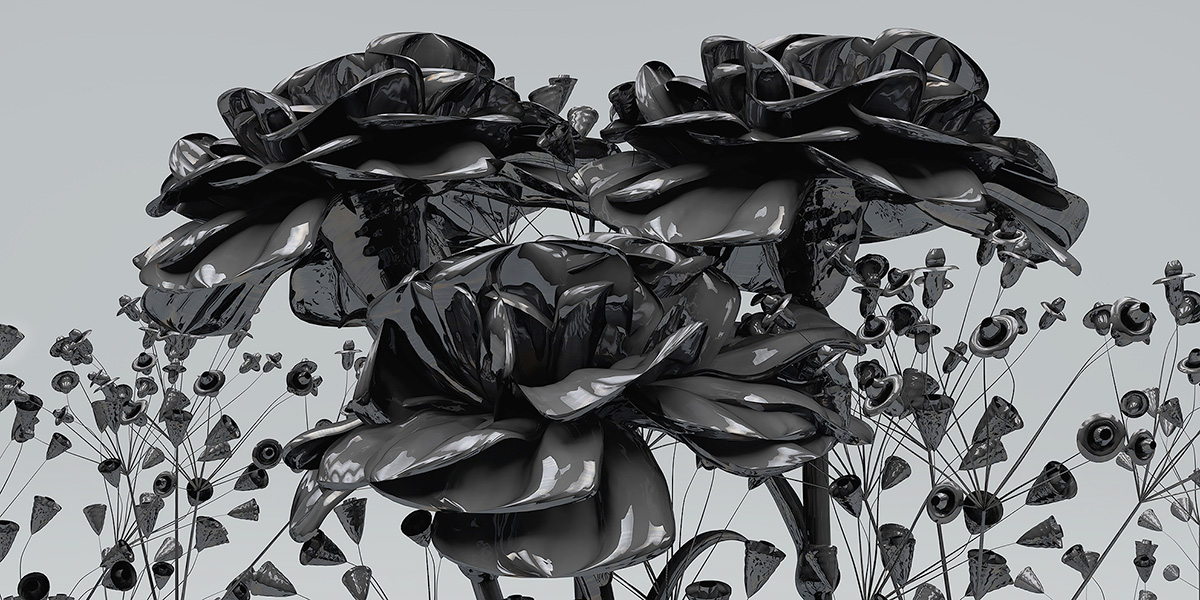 2015 eternal flowers black set 2 005 tty art - 2015 - Eternal Flowers. The Black Set. II