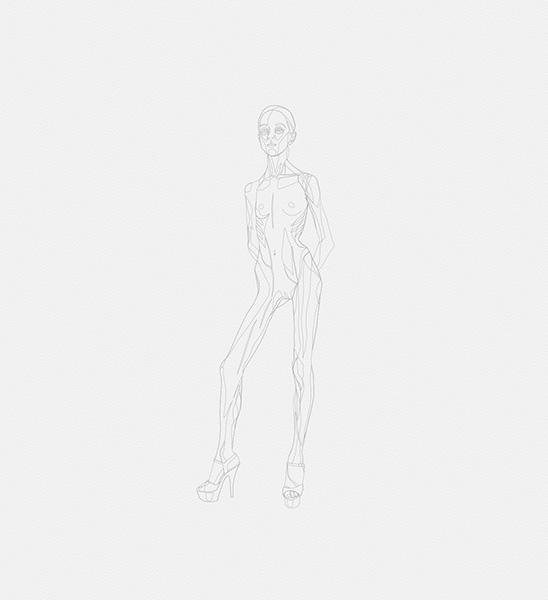 2016 la petite danseuse drawbot 002 tty art - 2016 - La petite danseuse - Drawbot