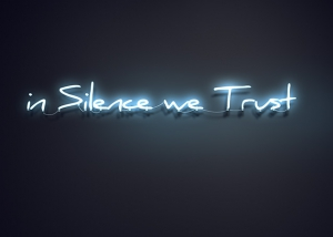 in silence we trust featured tty art 300x214 - Neon