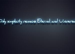 only simplicity remains eternal and universal 300x214 - Selected Artworks