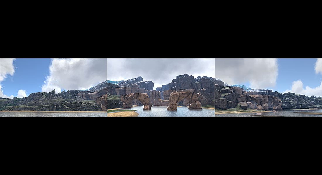 2018 Virtual Landscapes. Triptych N°1 001 tty art - 2018 - Virtual In-Game Landscapes - Triptych N°1