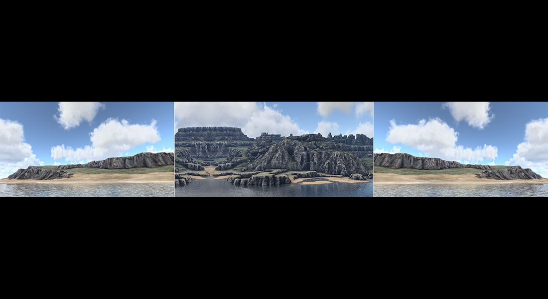 2018 Virtual Landscapes. Triptych N°2 001 tty art - 2018 - Virtual In-Game In-Game Landscapes - Triptych N°2
