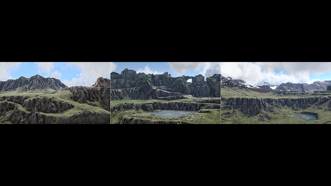 2018 Virtual Landscapes. Triptych N°3 001 tty art - 2018 - Virtual In-Game Landscapes - Triptych N°3