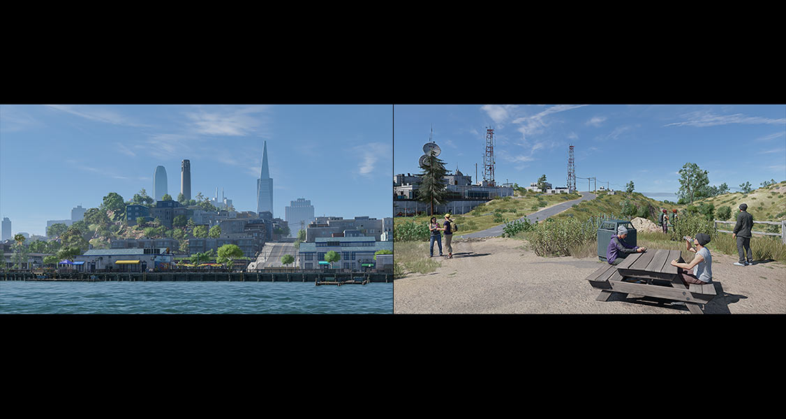 2018 Virtual Cities San Francisco Diptych N1 000 tty art - 2018 - Virtual In-Game Cities. San Francisco. Diptych N°1