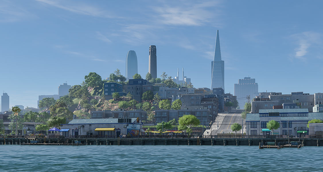 2018 Virtual Cities San Francisco Diptych N1 001 tty art - 2018 - Virtual In-Game Cities. San Francisco. Diptych N°1