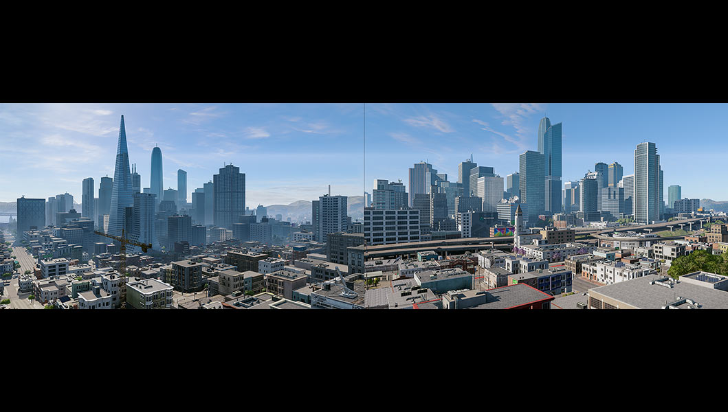2018 Virtual Cities San Francisco Diptych N2 000 tty art - 2018 - Virtual In-Game Cities. San Francisco. Diptych N°2