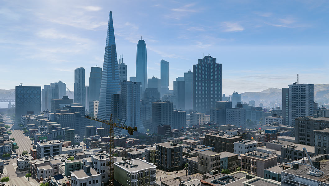 2018 Virtual Cities San Francisco Diptych N2 001 tty art - 2018 - Virtual In-Game Cities. San Francisco. Diptych N°2