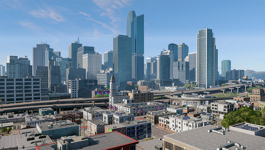 2018 Virtual Cities San Francisco Diptych N2 002 tty art - 2018 - Virtual In-Game Cities. San Francisco. Diptych N°2
