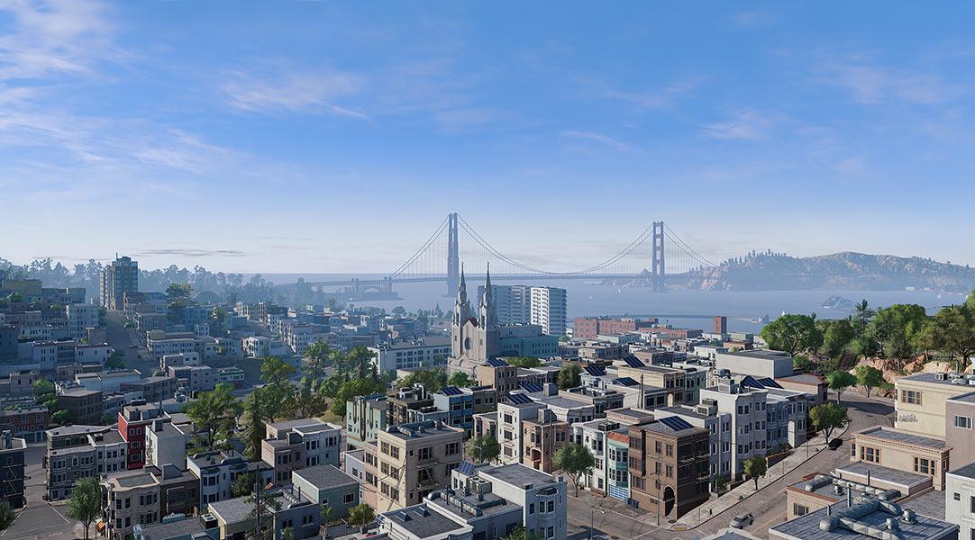 2018 Virtual Cities San Francisco Tritych N1 001 tty art - 2018 - Virtual In-Game Cities. San Francisco. Triptych N°1