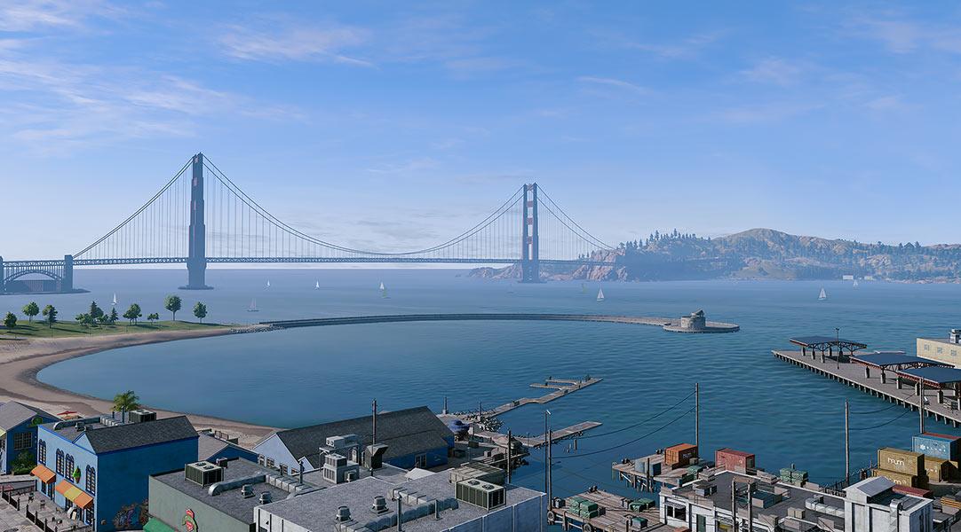2018 Virtual Cities San Francisco Tritych N1 002 tty art - 2018 - Virtual In-Game Cities. San Francisco. Triptych N°1