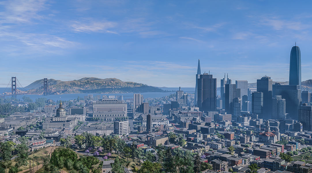 2018 Virtual Cities San Francisco Tritych N1 003 tty art - 2018 - Virtual In-Game Cities. San Francisco. Triptych N°1