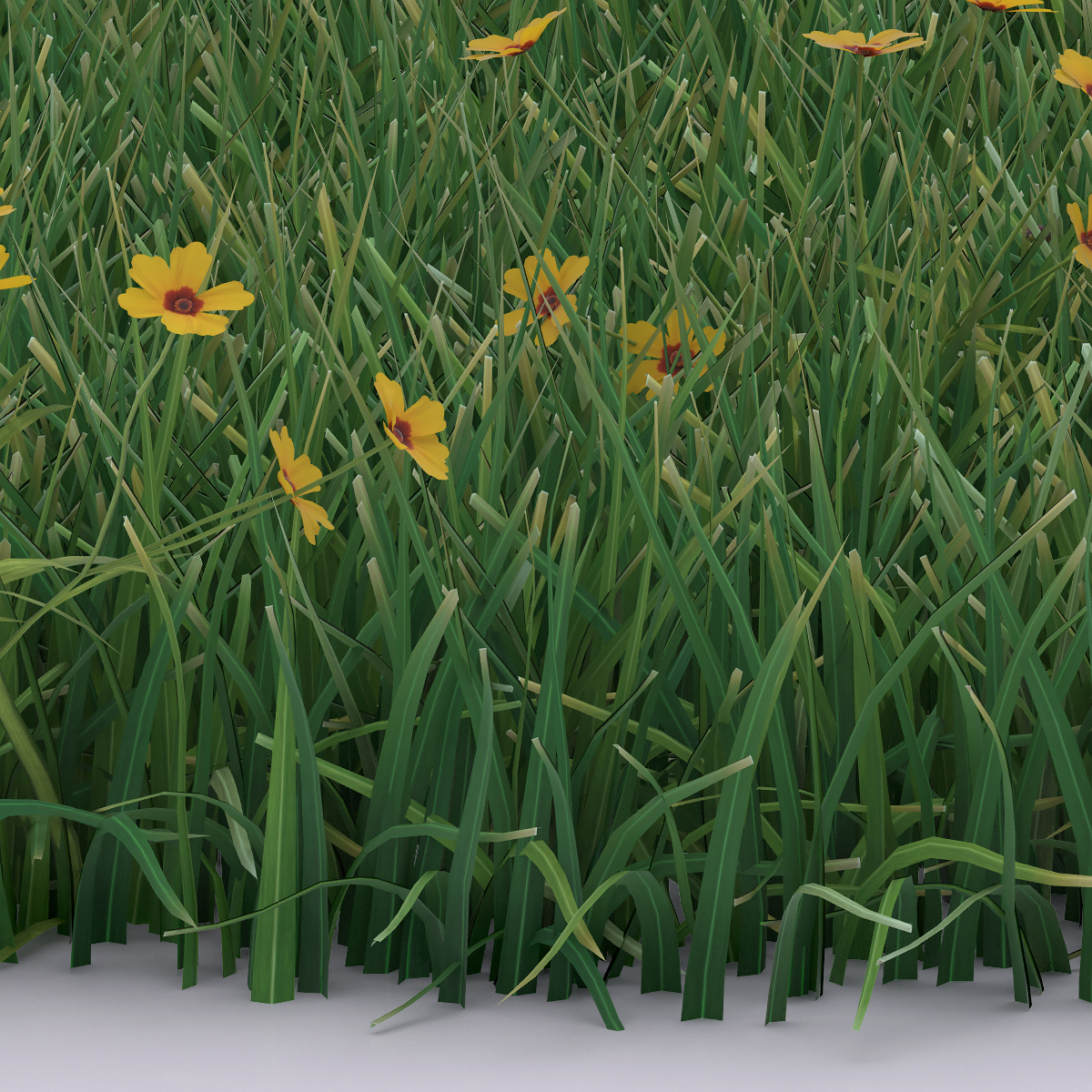 Detail Virtual Flowers and Grass 002 - 2018 - Virtual Flowers and Grass
