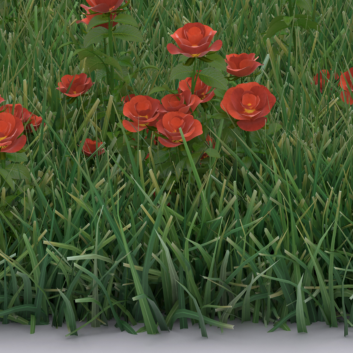 Detail Virtual Flowers and Grass 003b - 2018 - Virtual Flowers and Grass