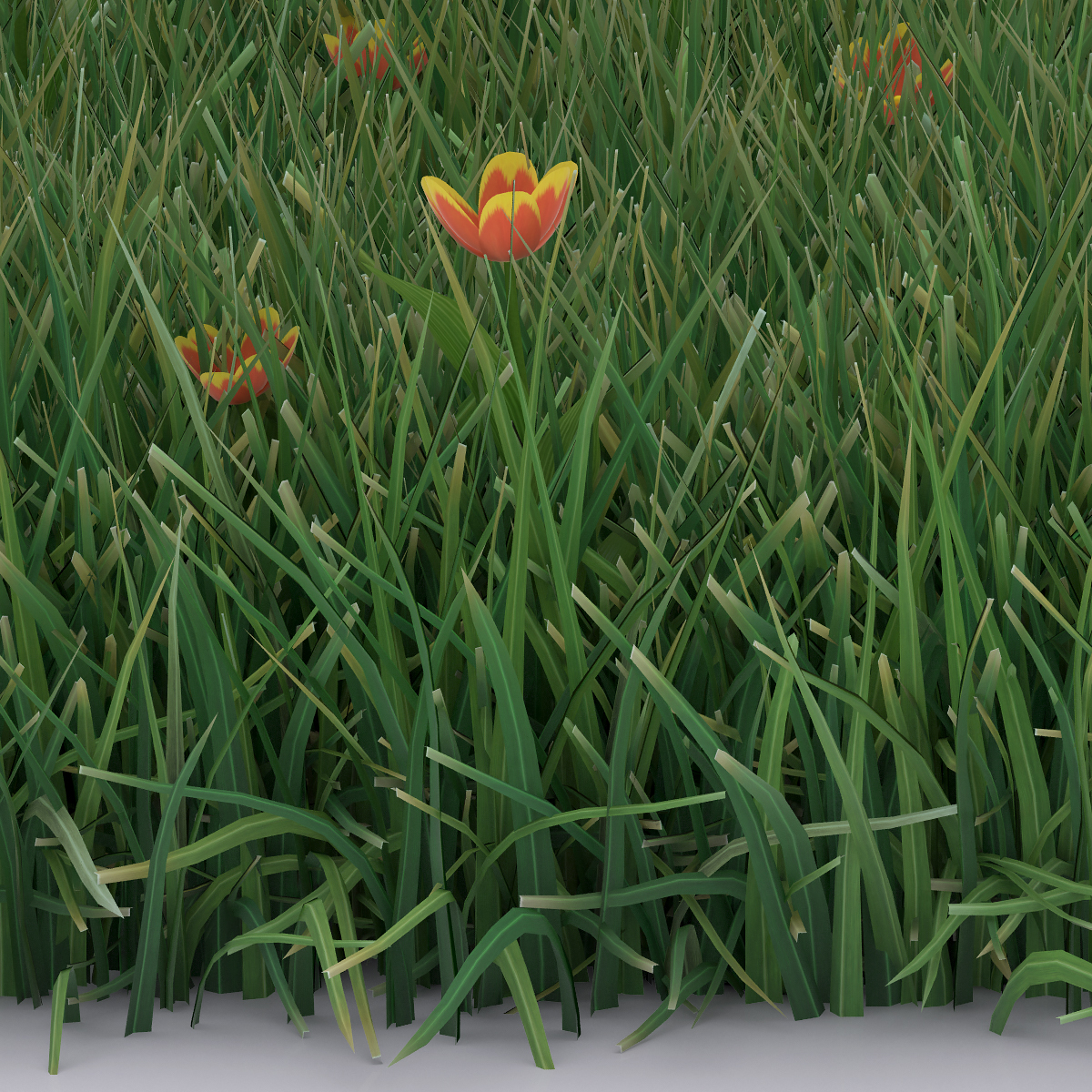 Detail Virtual Flowers and Grass 004 - 2018 - Virtual Flowers and Grass
