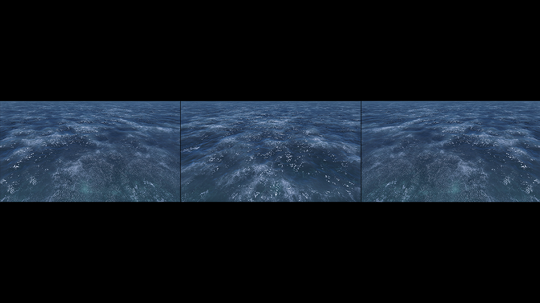 Virtual Sea VII Triptych I 000 - 2018 - Virtual Sea VII. (Computer Art)