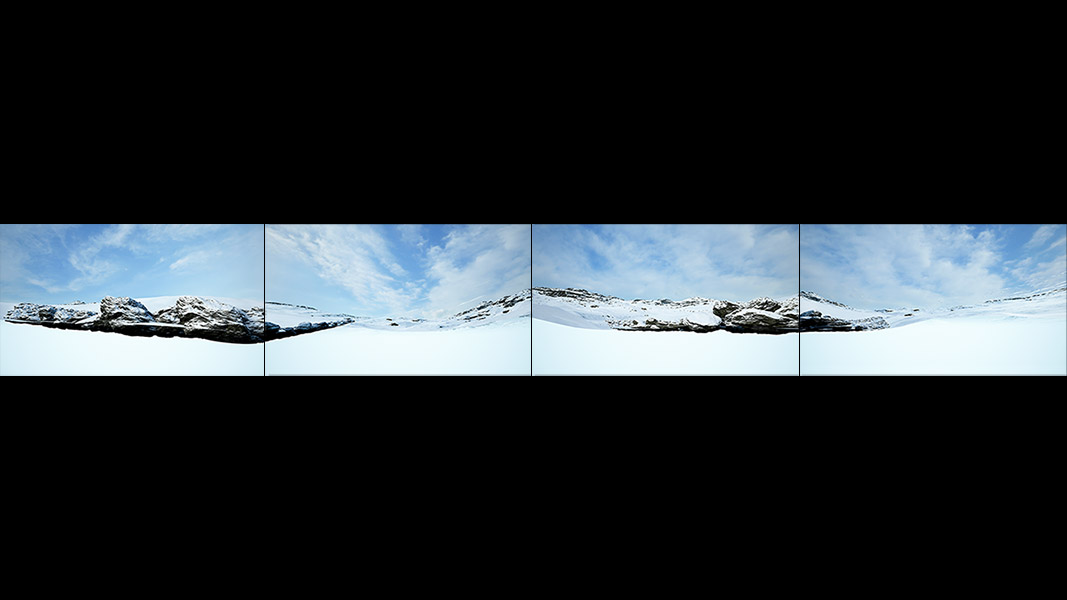 Virtual Land Art V1 Polyptych N°1 000 - 2018 - Virtual Land Art. V1