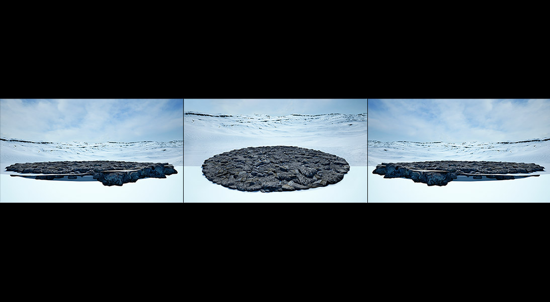 Virtual Land Art V1 Triptych N°1 000 - 2018 - Virtual Land Art. V1