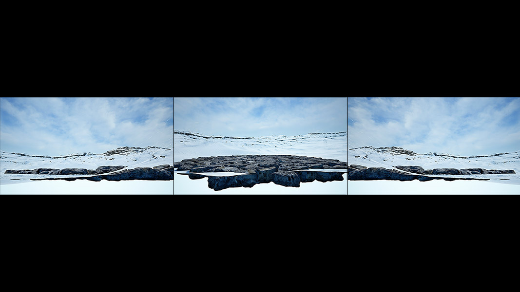 Virtual Land Art V1 Triptych N°2 000 - 2018 - Virtual Land Art. V1