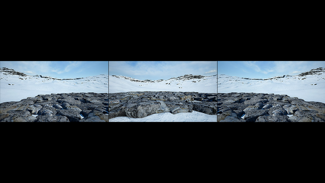 Virtual Land Art V1 Triptych N°3 000 - 2018 - Virtual Land Art. V1