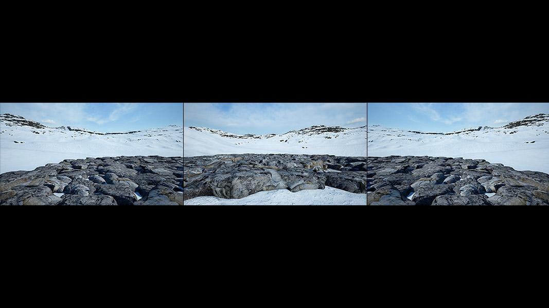 Virtual Land Art V1 Triptych N°3 000 - 2018 - Virtual Land Art. V1