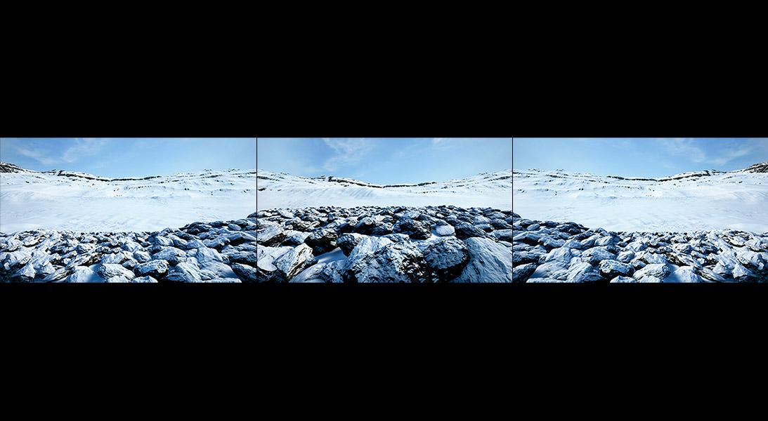 Virtual Land Art V1 Triptych N°4 000 - 2018 - Virtual Land Art. V1