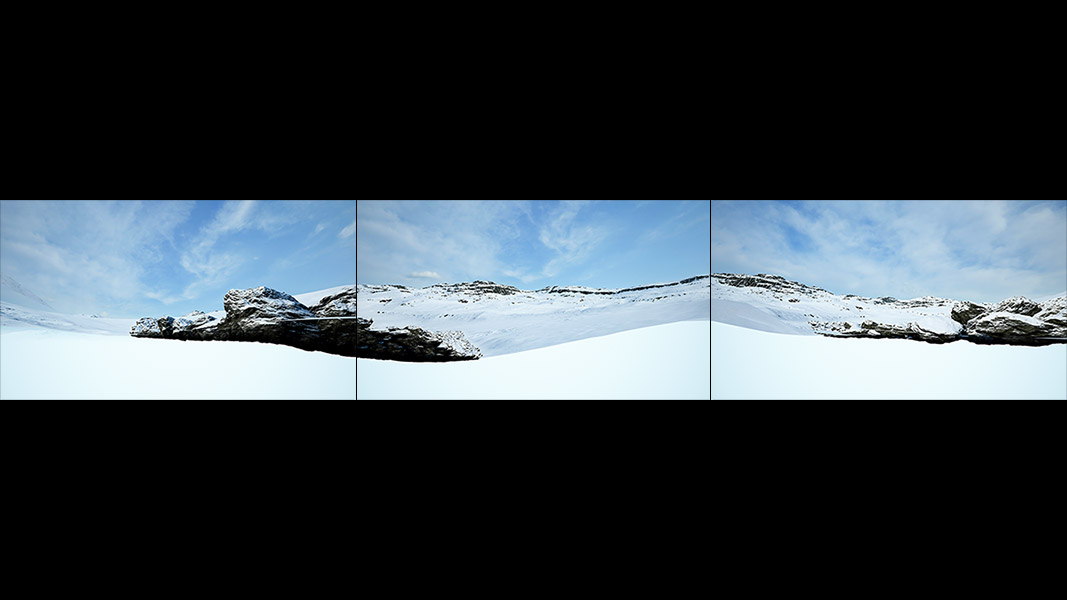 Virtual Land Art V1 Triptych N°5 000 - 2018 - Virtual Land Art. V1