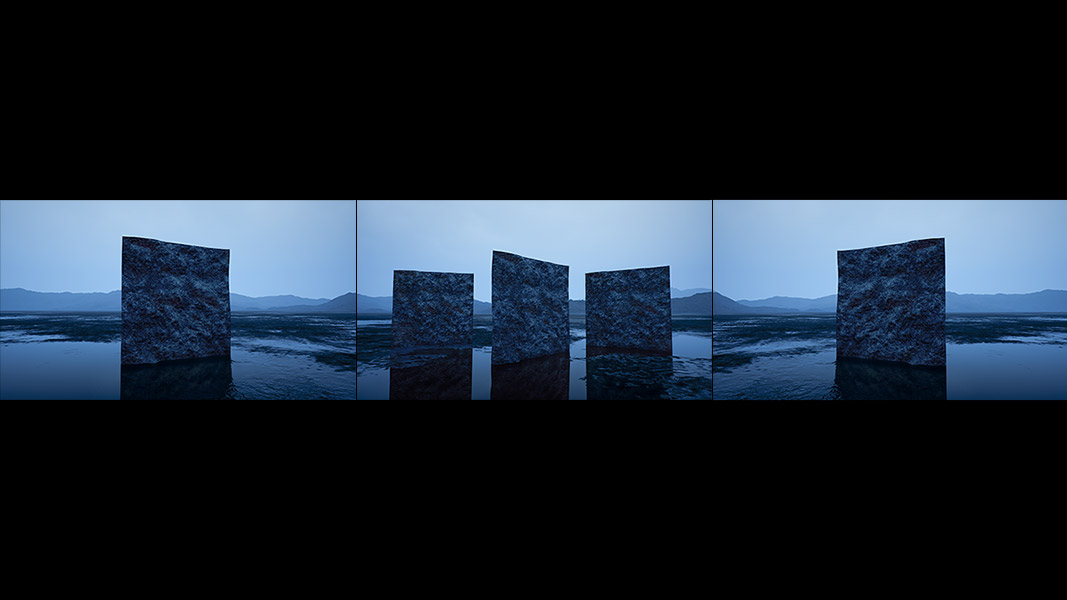 Virtual Land Art V2 Triptych N°1 000b - 2018 - Virtual Land Art. V2