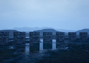 Virtual Land Art V2 Triptych N°3 002 1 300x214 - 2018 - Virtual Land Art. V2