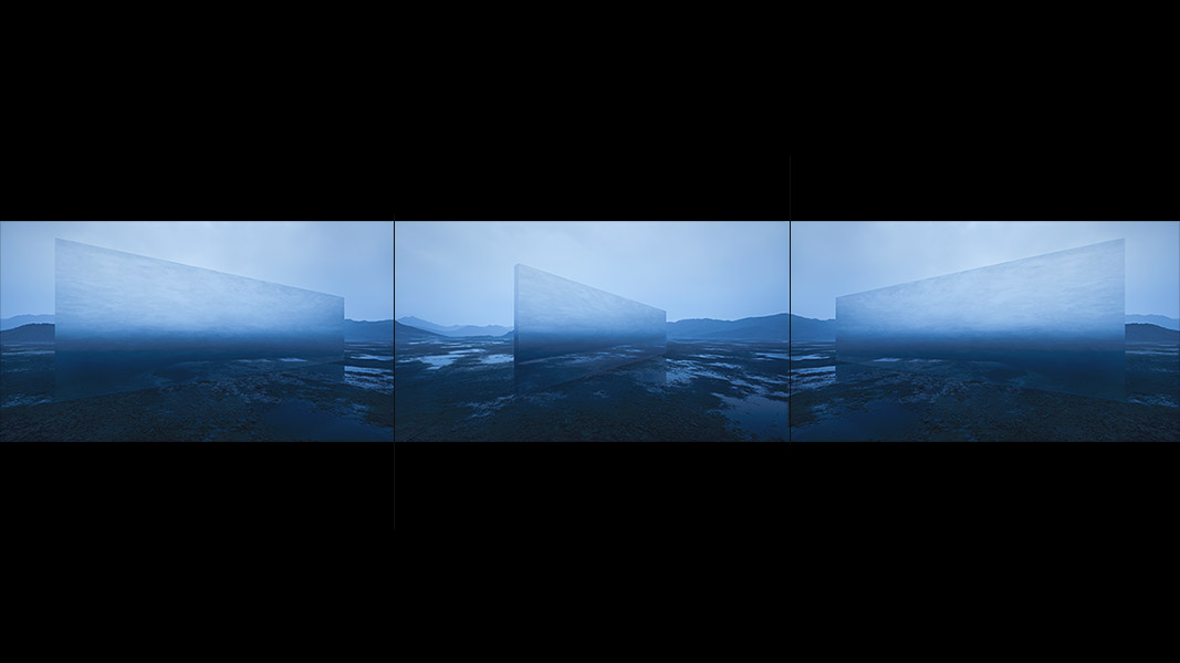 Virtual Land Art V2 Triptych N°5 000b - 2018 - Virtual Land Art. V2