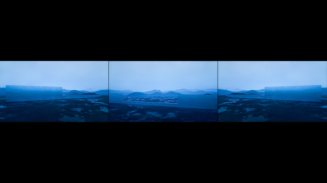 Virtual Land Art V2 Triptych N°6 000 - 2018 - Virtual Land Art. V2