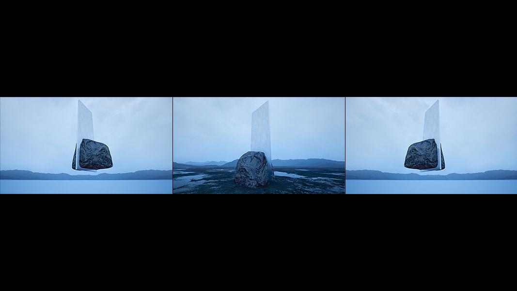 Virtual Land Art V2 Triptych N°7 000 - 2018 - Virtual Land Art. V2