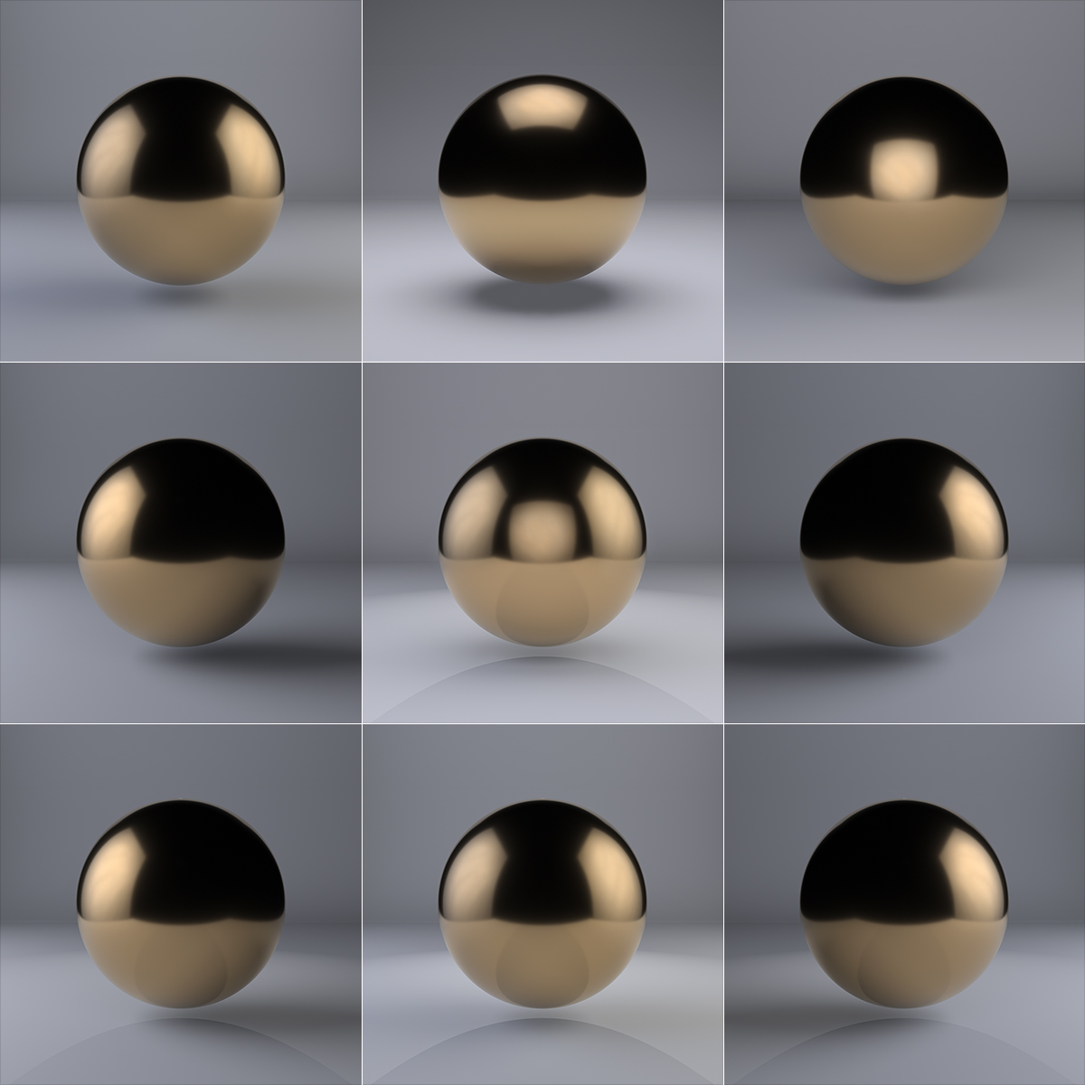 A sphere lit from the top V1 000 1 - 2018 - A sphere lit from the top, four sides and some of their combinations. V1. (Nine Months of Sol Lewitt's Life)