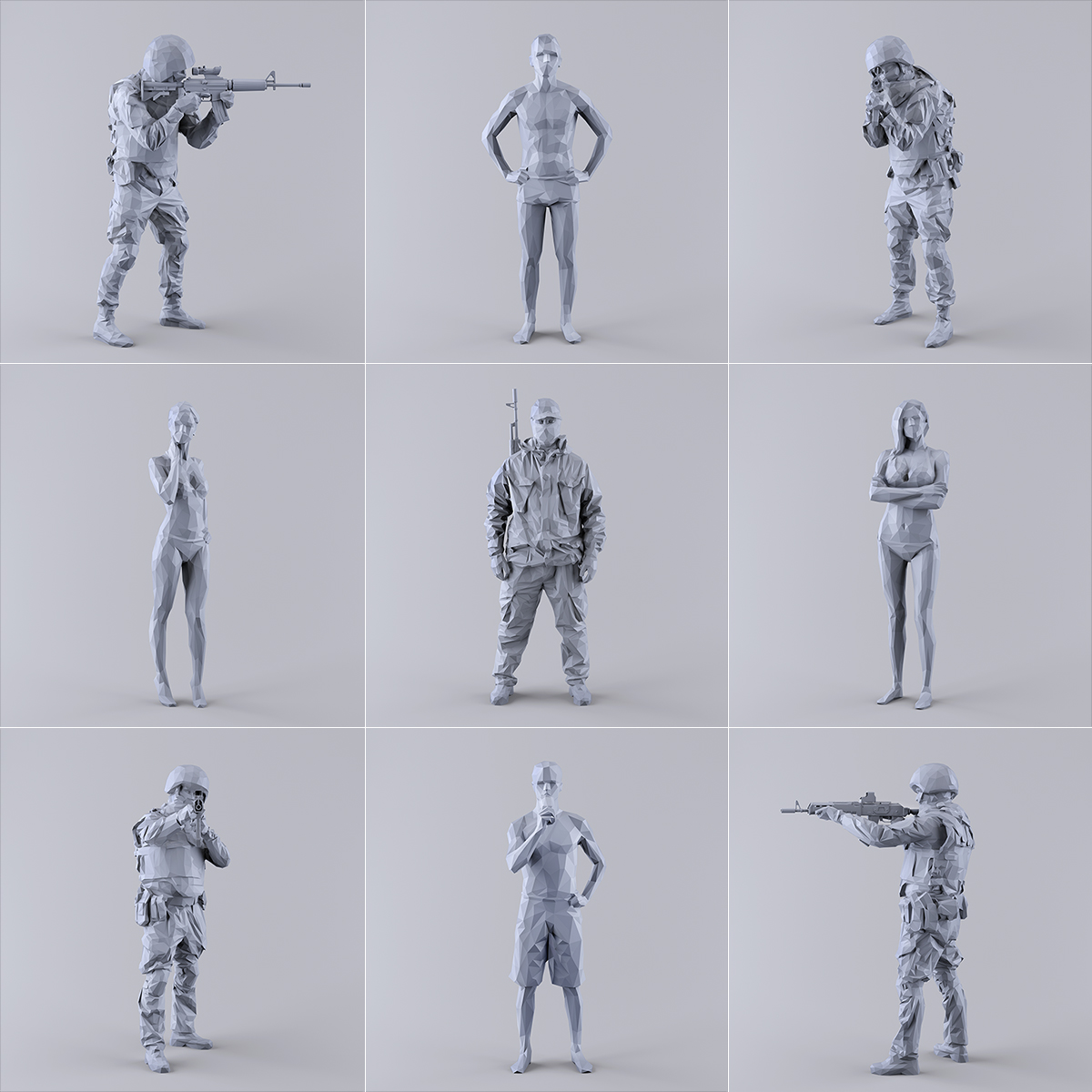 This was HomoSapiens I 000 2 - 2019 - This was HomoSapiens. I. (LowPoly Military and Vacation People)
