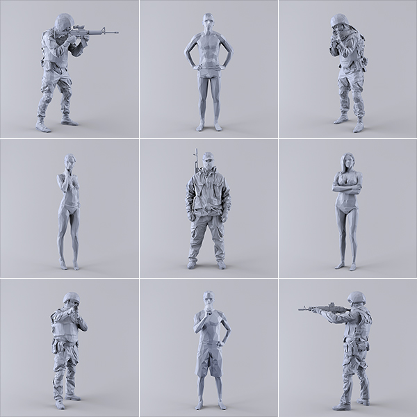 This was HomoSapiens I 000 - 2019 - This was HomoSapiens. I. (LowPoly Military and Vacation People)