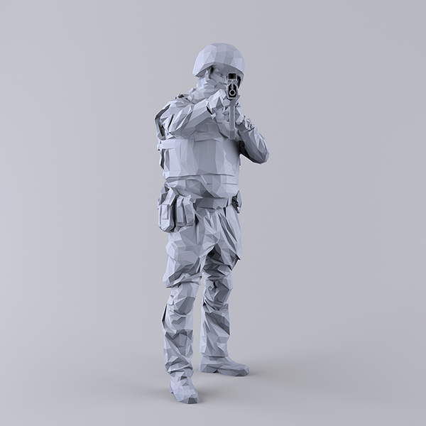 This was HomoSapiens I 007 - 2019 - This was HomoSapiens. I. (LowPoly Military and Vacation People)