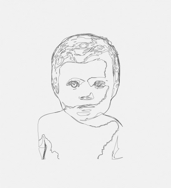 The baby Lea DrawBot 001 - 2019 - The baby. Lea. V1