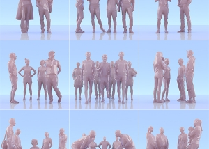 This was HomoSapiens II 000 300x214 - 2019 - This was HomoSapiens. II. (LowPoly People)