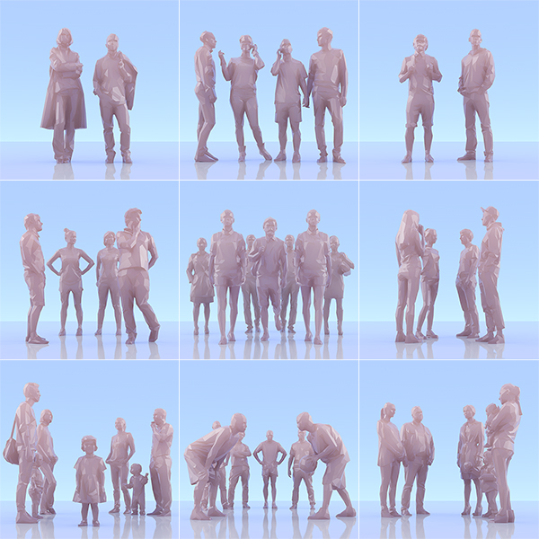 This was HomoSapiens II 000 - 2019 - This was HomoSapiens. II. (LowPoly People)