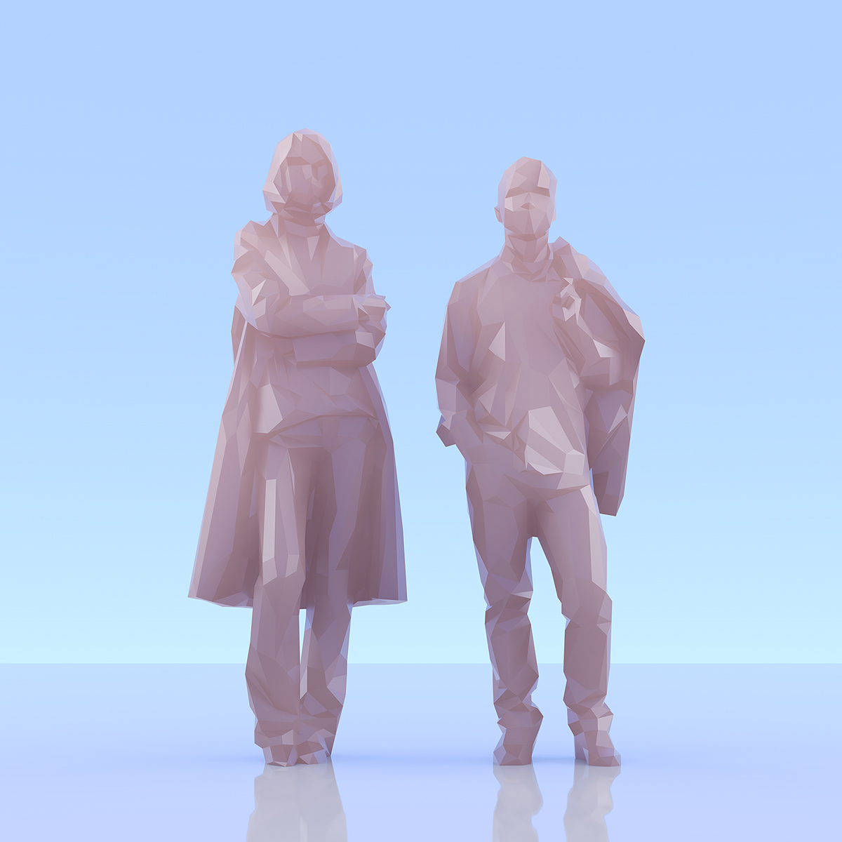 This was HomoSapiens II 001 1 - 2019 - This was HomoSapiens. II. (LowPoly People)