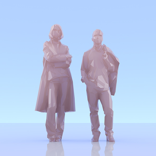 This was HomoSapiens II 001 - 2019 - This was HomoSapiens. II. (LowPoly People)