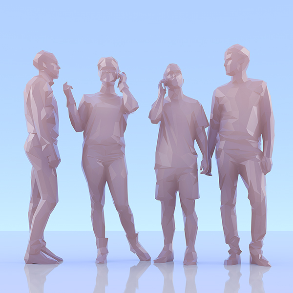 This was HomoSapiens II 002 - 2019 - This was HomoSapiens. II. (LowPoly People)