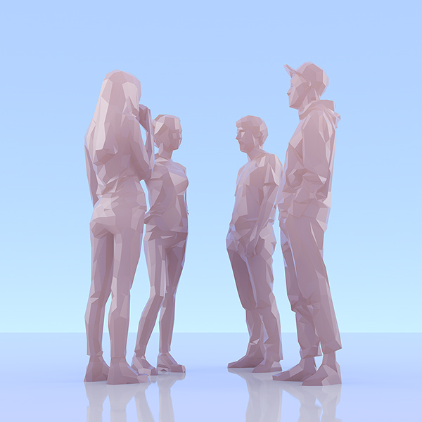 This was HomoSapiens II 006 - 2019 - This was HomoSapiens. II. (LowPoly People)