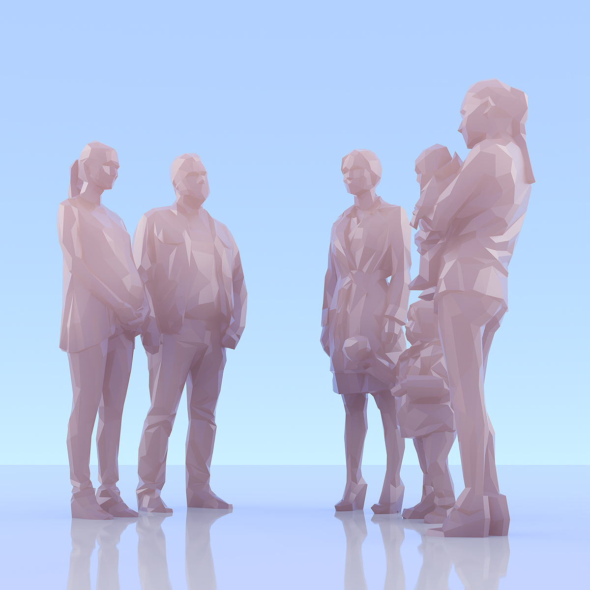 This was HomoSapiens II 009 1 - 2019 - This was HomoSapiens. II. (LowPoly People)