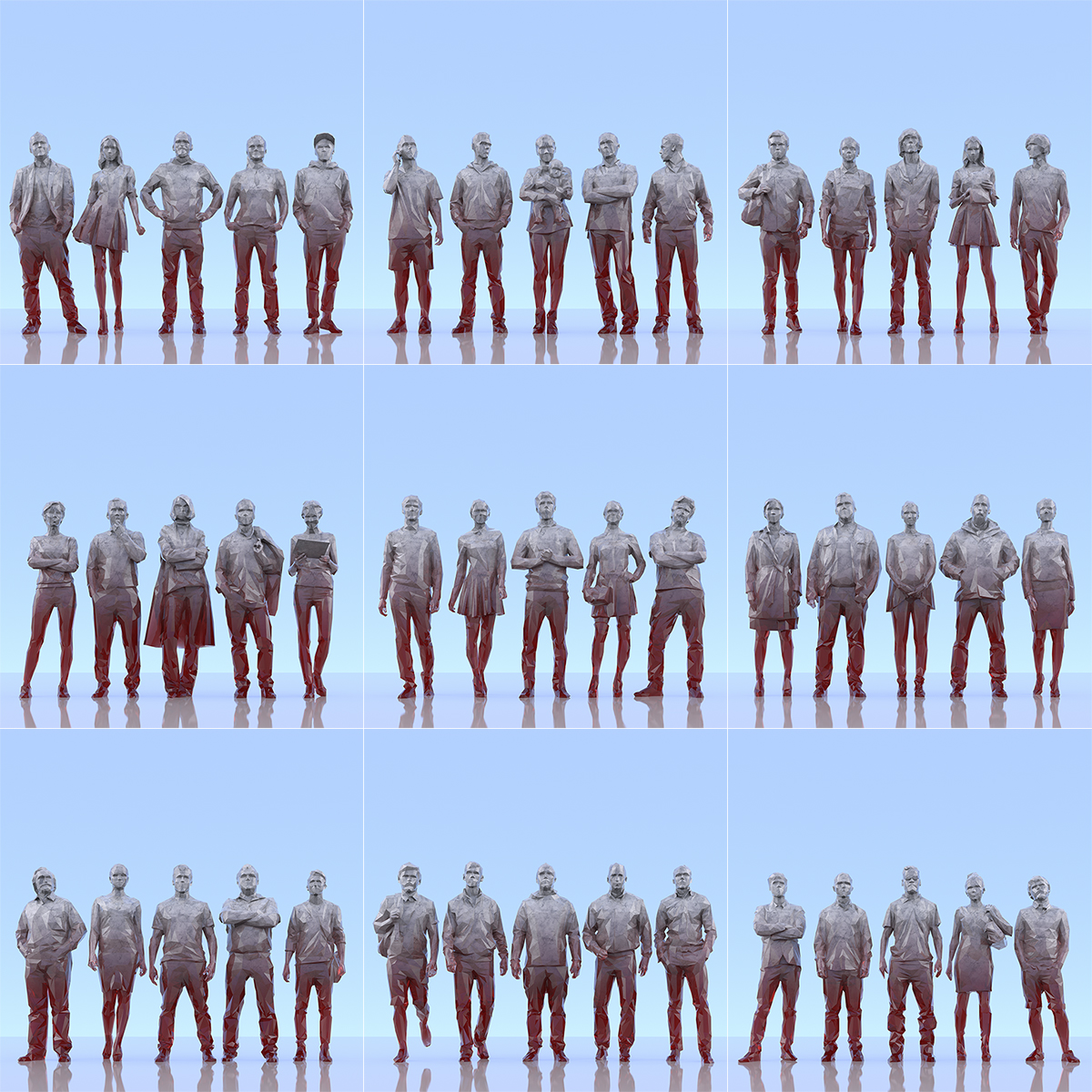This was HomoSapiens III 000 1 - 2019 - This was HomoSapiens. III. (LowPoly People)