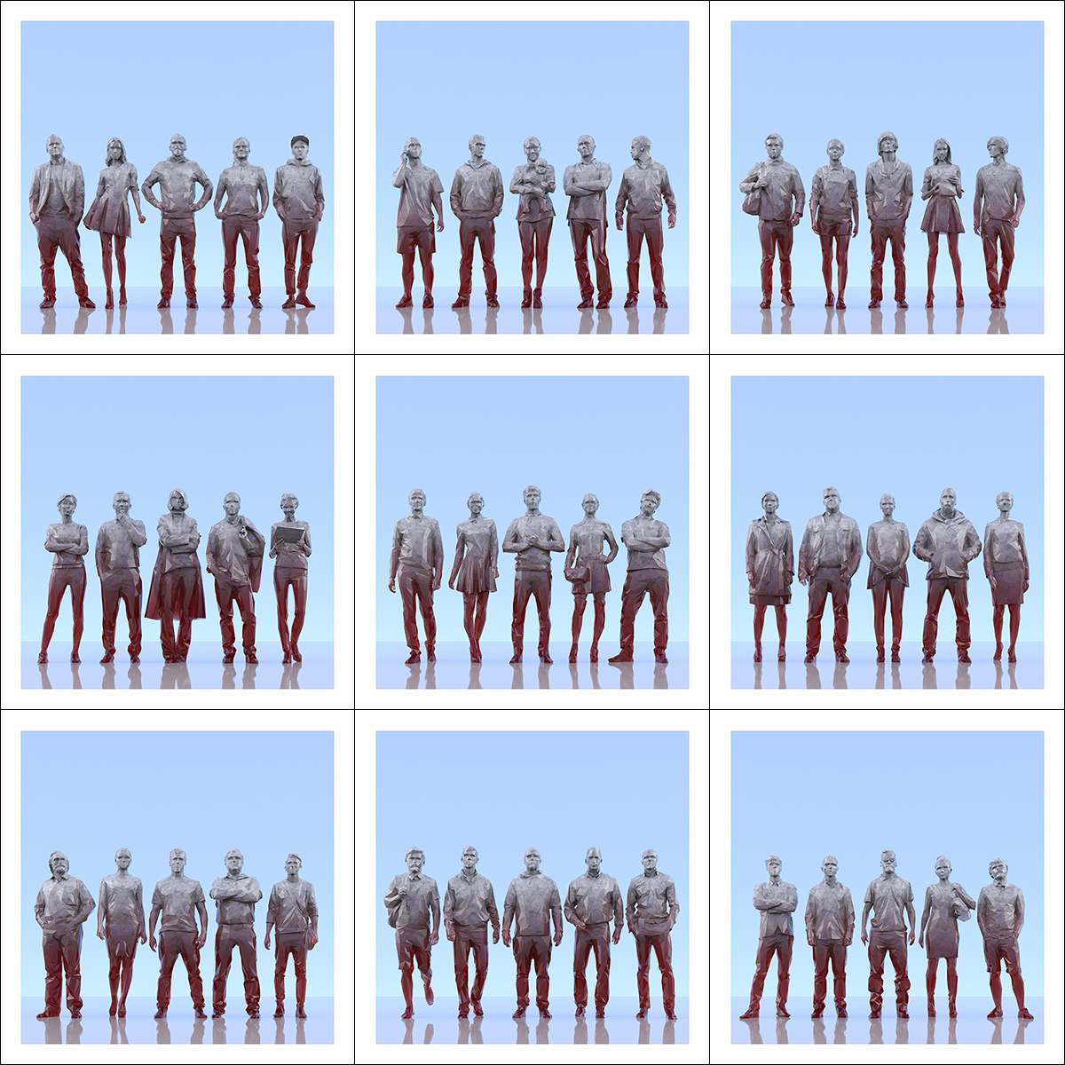 This was HomoSapiens III 000 2 - 2019 - This was HomoSapiens. III. (LowPoly People)