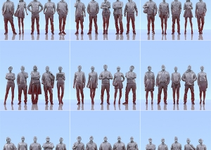 This was HomoSapiens III 000 300x214 - 2019 - This was HomoSapiens. III. (LowPoly People)