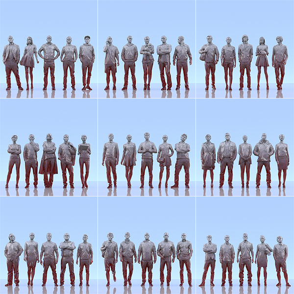 This was HomoSapiens III 000 - 2019 - This was HomoSapiens. III. (LowPoly People)