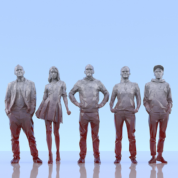 This was HomoSapiens III 001 - 2019 - This was HomoSapiens. III. (LowPoly People)