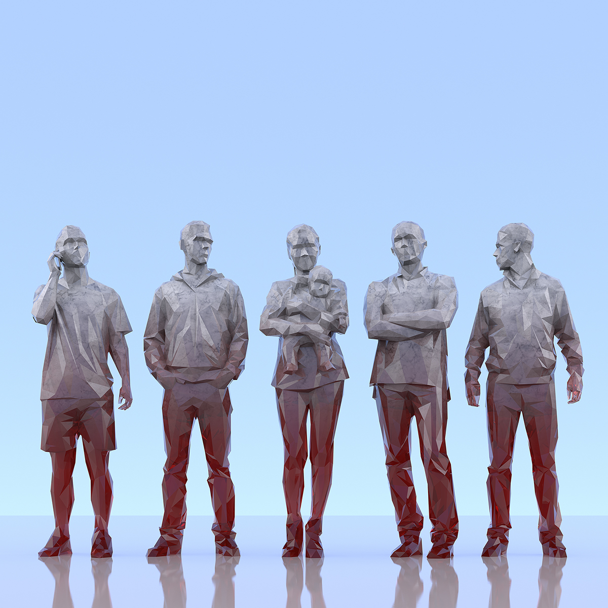 This was HomoSapiens III 002 1 - 2019 - This was HomoSapiens. III. (LowPoly People)
